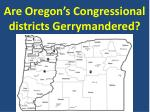 Are Oregon's Congressional districts Gerrymandered?