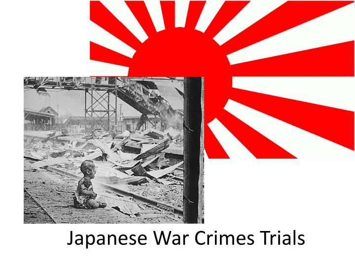 japanese war crimes trials n.