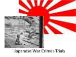 Japanese War Crimes Trials