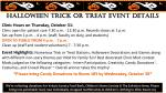 P Halloween Trick or Treat Event DETAILS Clinic Hours on Thursday, October 31: