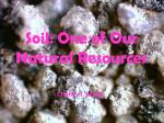 Soil: One of Our Natural Resources