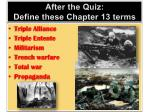 After the Quiz: Define these Chapter 13 terms