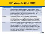 HEN Visions for 2014: CAUTI