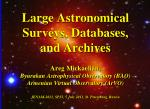 Astronomical Surveys