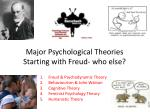 Major Psychological Theories Starting with Freud- who else?