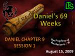 Daniel Chapter 9 Session 1