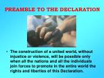 PREAMBLE TO THE DECLARATION