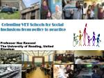 Orienting VET Schools for Social Inclusion: from policy to practice