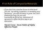 First Rule of Composite Materials