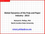 Global Dynamics of the Pulp and Paper Industry - 2013