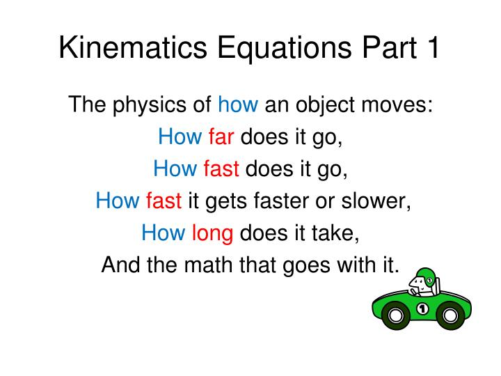kinematics equations part 1 n.