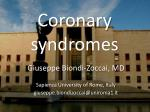 Coronary syndromes