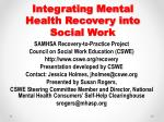 Integrating Mental Health Recovery into Social Work