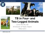 TB in Four- and Two-Legged Animals