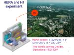 HERA and H1 experiment