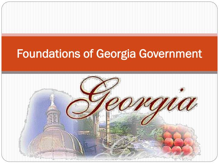 foundations of georgia government n.