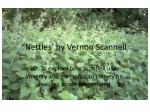 'Nettles' by Vernon Scannell