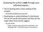 Analyzing the author's style through your individual papers…