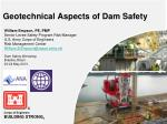 Geotechnical Aspects of Dam Safety