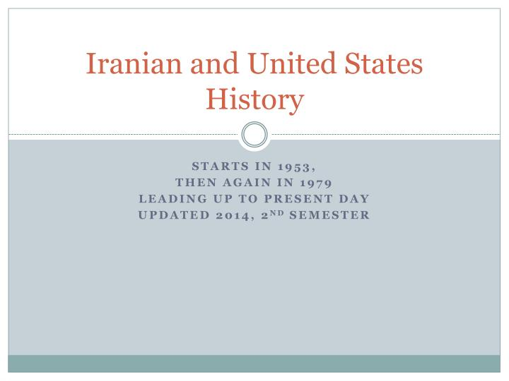 iranian and united states history n.
