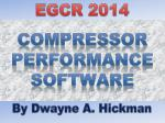 Compressor Performance Software