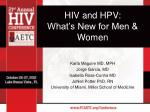 HIV and HPV: What's New for Men & Women