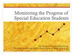 Monitoring the Progress of Special Education Students