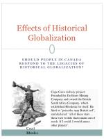 Effects of Historical Globalization