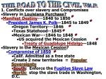 1. Conflicts over slavery and Compromises Slavery in Louisiana Purchase?