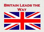 Britain Leads the Way