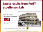 *Work at ASU is supported by the U.S. National Science Foundation