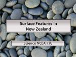 Surface Features in New Zealand