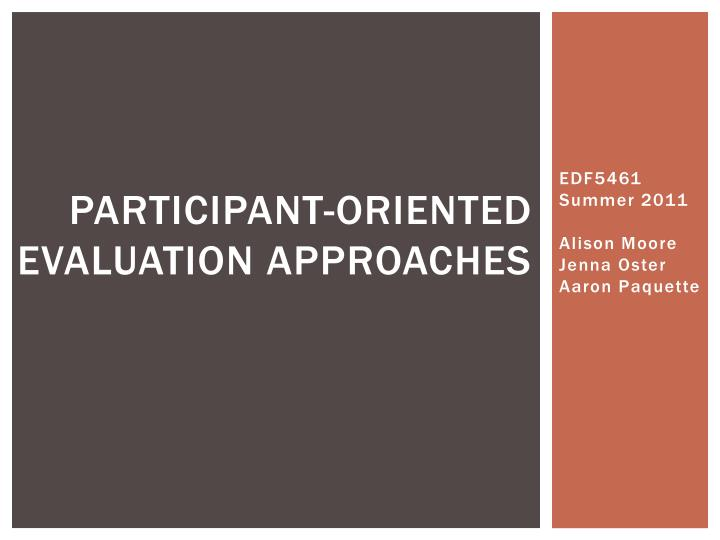 participant oriented evaluation approaches n.