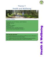 Theme 7: Health and Wellbeing