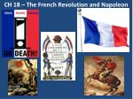 CH 18 – The French Revolution and Napoleon