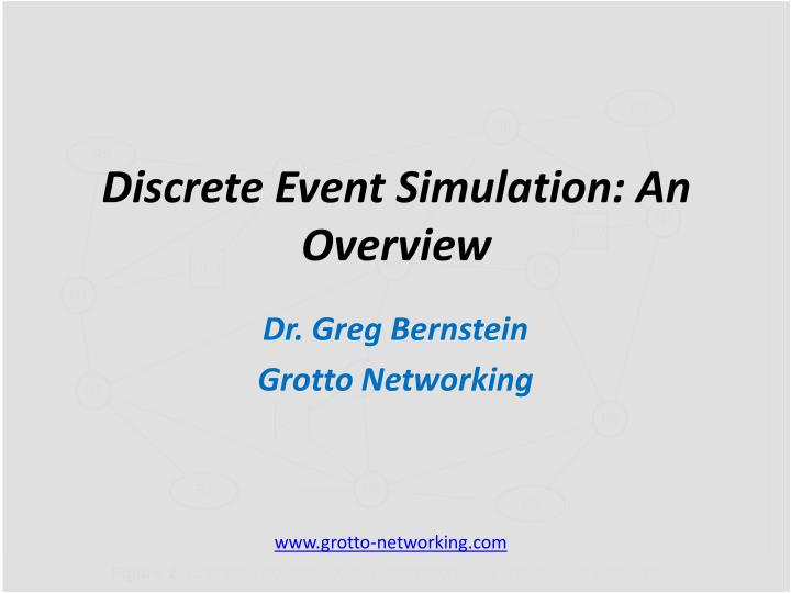 discrete event simulation an overview n.