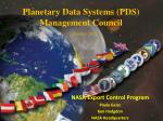 Planetary Data Systems (PDS) Management Council