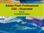 Adobe Flash Professional CS5 – Illustrated