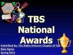TBS National Awards