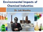 Environmental Impacts of Chemical Industries