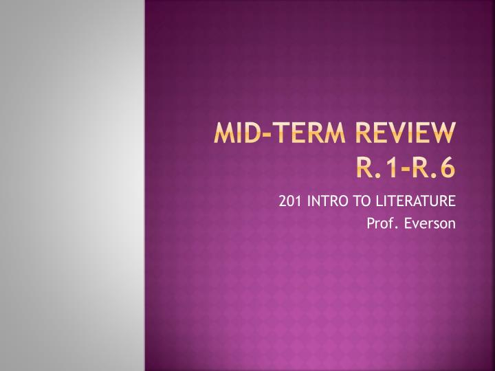 mid term review r 1 r 6 n.