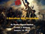 Liberalism and Revolution