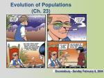 Evolution of Populations (Ch. 23)