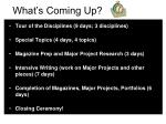 What's Coming Up?