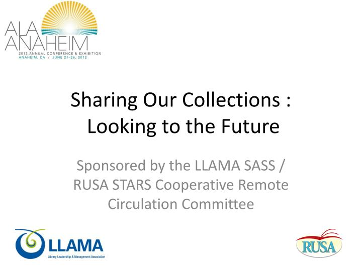 sharing our collections looking to the future n.