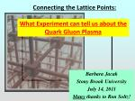 Connecting the Lattice Points: What Lattice QCD can tell us about the Quark Gluon Plasma