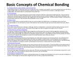 Basic Concepts of Chemical Bonding