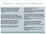 Paraphrase – Sonnet 30 by W. Shakespeare