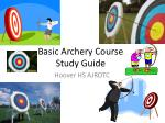 Basic Archery Course Study Guide