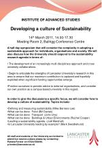 INSTITUTE OF ADVANCED STUDIES Developing a culture of Sustainability